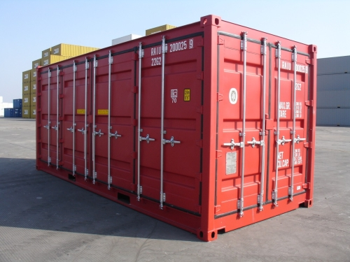 Double-Side-Door-Container geschlossen