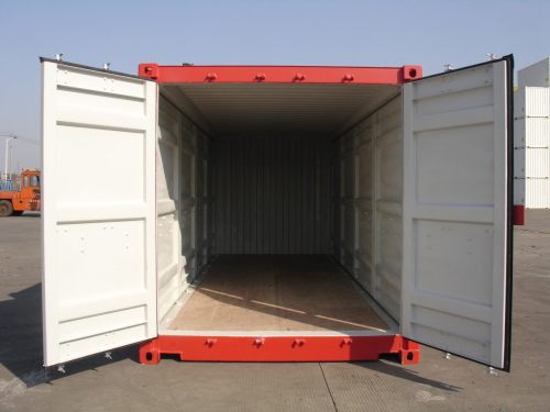 Double-Side-Door-Container Frontansicht